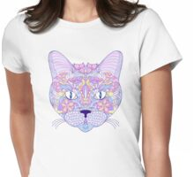 head of cat Womens Fitted T-Shirt
