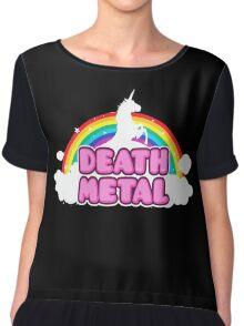Unicorn Rainbow Death Metal Chiffon Top