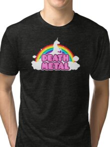 Unicorn Rainbow Death Metal Tri-blend T-Shirt