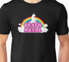 Unicorn Rainbow Death Metal Unisex T-Shirt