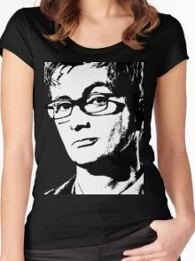 David Tennant: 10th Doctor Women's Fitted Scoop T-Shirt