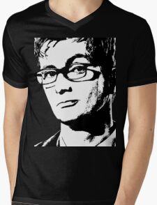 David Tennant: 10th Doctor Mens V-Neck T-Shirt