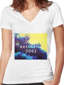 Aesthetic 2000 Vaporwave Sadboys Women's Fitted V-Neck T-Shirt