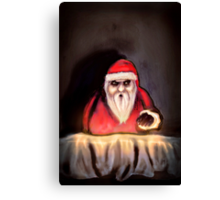 Black Xmas: Santa Claus is Here Canvas Print