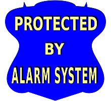 Protect by alarm system Photographic Print