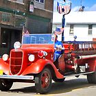 Vintage Fire Truck by Nadya Johnson