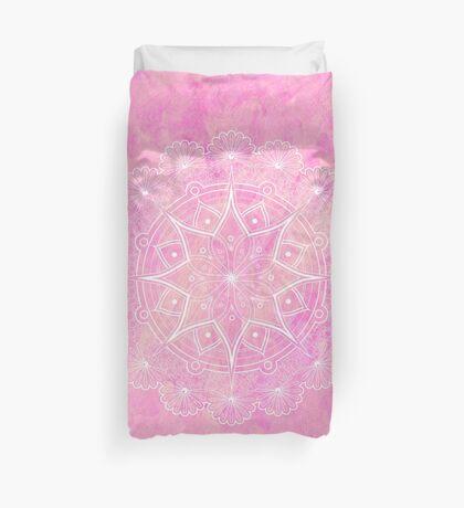 Mandala-la-la Pink Duvet Cover