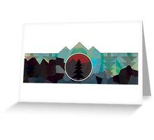 Moonset Mountains Greeting Card