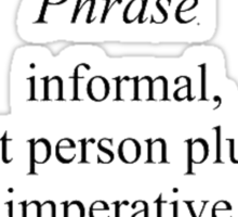 Allons-y Definition  Sticker