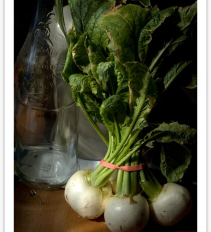 Still Life with Turnips Sticker