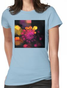 Magenta Box Spiral Womens Fitted T-Shirt