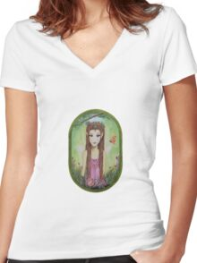 AUTUMN FAIRY Women's Fitted V-Neck T-Shirt