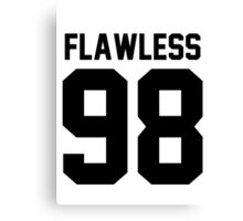 Flawless '98 - Jersey Tee + Phone Case Canvas Print