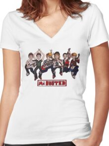 McBusted Women's Fitted V-Neck T-Shirt