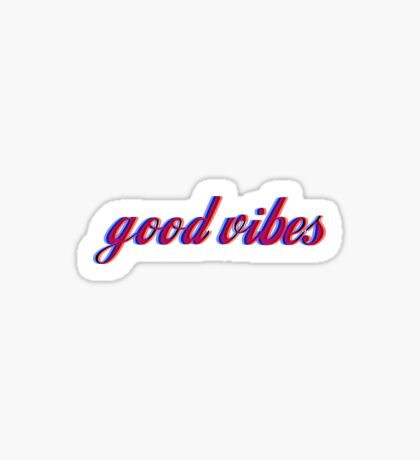 good vibes - small size Sticker