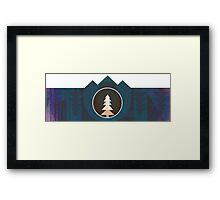 Moonset Mountains 2 Framed Print