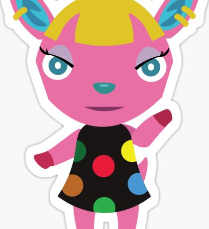 Fuchsia Animal Crossing Sticker