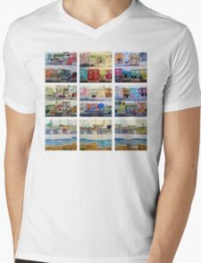Sunset Series Mens V-Neck T-Shirt