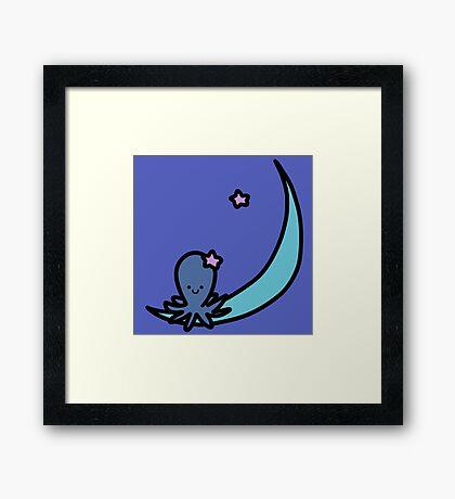 Blue Moon Octopus Framed Print