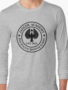 Jaeger Academy logo in black! Long Sleeve T-Shirt