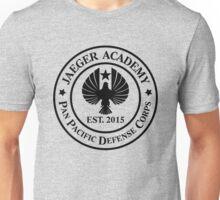 Jaeger Academy logo in black! Unisex T-Shirt