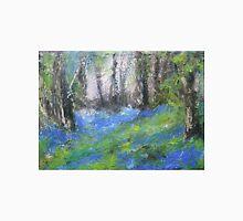 Bluebells English Woodland Landscape Acrylics On Canvas Unisex T-Shirt