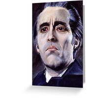 He is the embodiment of all that is evil. Greeting Card
