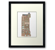 institute of schizophrenic architects Framed Print