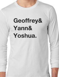 Deep learning conspiracy (Hinton,LeCun,Bengio) Long Sleeve T-Shirt