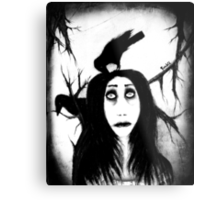 Her eyes so innocent... on hallowed ground. Metal Print