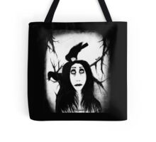 Her eyes so innocent... on hallowed ground. Tote Bag