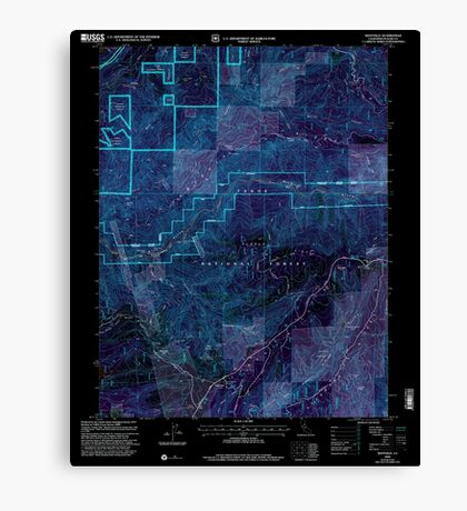 USGS TOPO Map California CA Westville 102142 2000 24000 geo Inverted Canvas Print