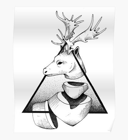 Metaphisical Deer Poster