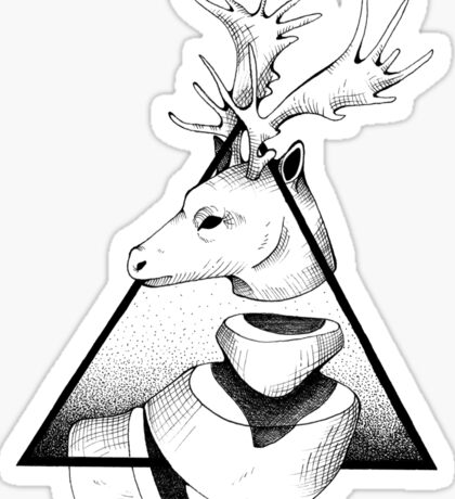 Metaphisical Deer Sticker