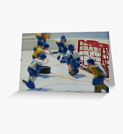 ice hockey attack Greeting Card
