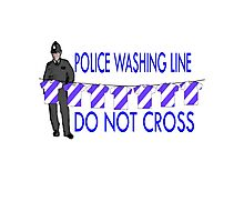 police washing line do not cross  Photographic Print