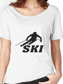 Ski, skiing, après ski, freeski, winter, snow, mountain, sport Women's Relaxed Fit T-Shirt