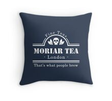 MoriarTea: What People Brew (white) Throw Pillow