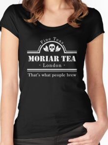 MoriarTea: What People Brew (white) Women's Fitted Scoop T-Shirt