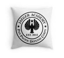 Jaeger Academy logo in black! Throw Pillow