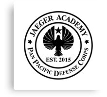Jaeger Academy logo in black! Canvas Print