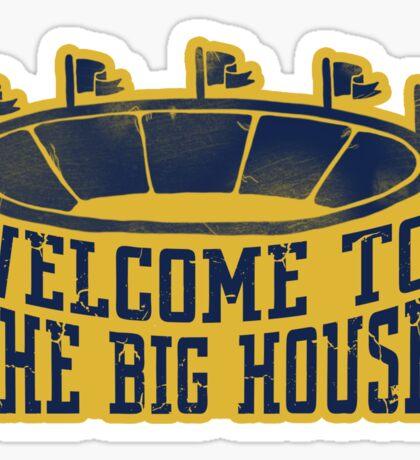 The Big House Vintage Stadium Sticker