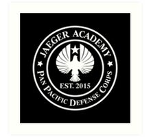 Jaeger Academy logo in white! Art Print