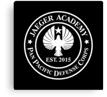 Jaeger Academy logo in white! Canvas Print