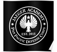 Jaeger Academy logo in white! Poster