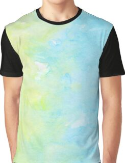 Watercolors - Pastel Blue & Yellow (Vertical) Graphic T-Shirt