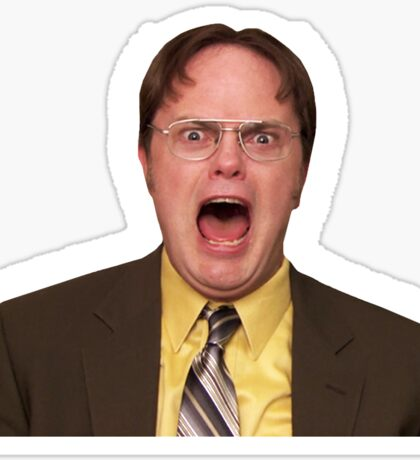 Dwight Schrute Yelling Funny Sticker