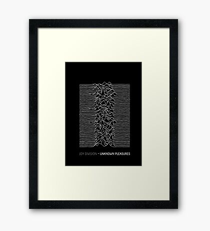 Joy Division - Unknown Pleasures Framed Print