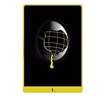 Space Egg Tarot Card Photographic Print