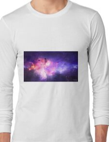 This is a dog in a galaxy Long Sleeve T-Shirt